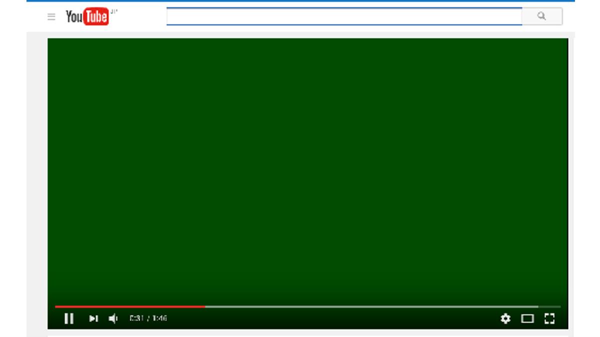 動画が緑色になる
